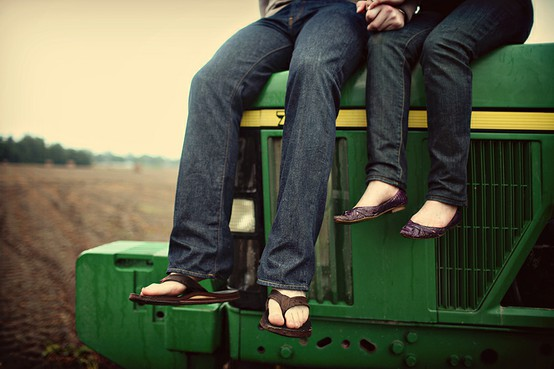 Couple On Tractor : Moved permanently
